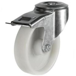 M12 Bolt Hole Braked castors 80mm wheel diameter upto 200kg capacity