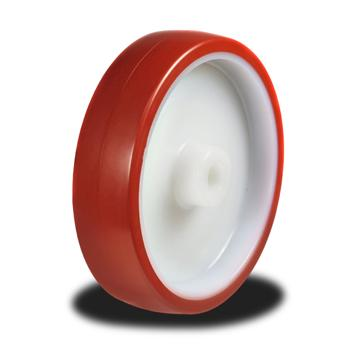 100mm Wheel with a Poly tyre on a Nylon Centre 150kg Capacity