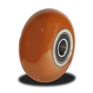 125mm Round Profile Poly/Cast wheel with 400kg Capacity