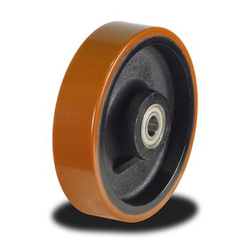100mm Poly tyre on Cast Iron Centre wheel with 450Kg Capacity