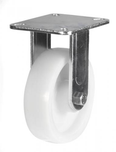 125mm Heavy Duty Nylon Fixed castors - 350kg capacity