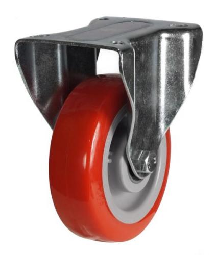 125mm Heavy Duty Poly Nylon Fixed castors - 220kg capacity