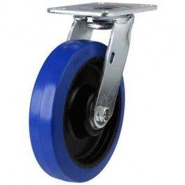 100mm Elastic Rubber Non-Marking Swivel Castors