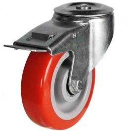 100mm Polyurethane On Nylon Centre Braked Castors