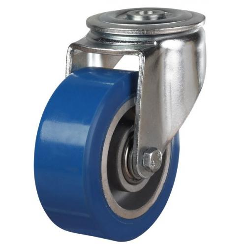 125mm Elastic Polyurethane On Aluminium Centre 80 Shore A Bolt Hole Castors