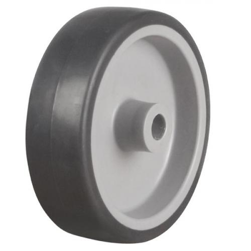 125mm Light Duty Anti-Static Rubber Tyre On Plastic Centre Castor Wheel