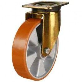 125mm Polyurethane On Aluminium Centre Swivel Castors