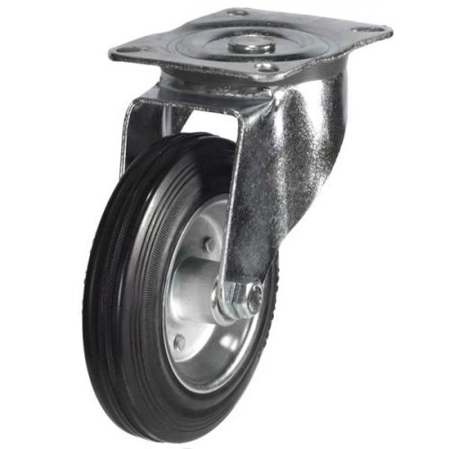 125mm Rubber On Steel Disk Centre Swivel Castors