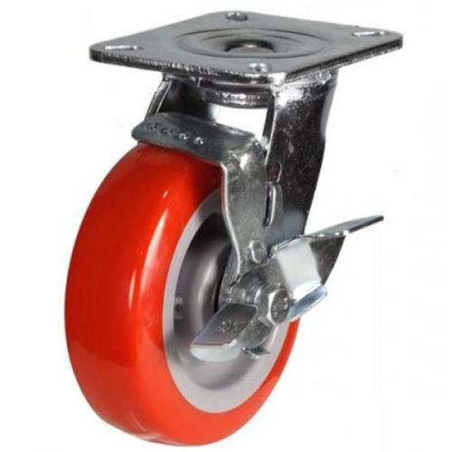 150mm Heavy Duty Poly Nylon Braked castors - 430kg capacity