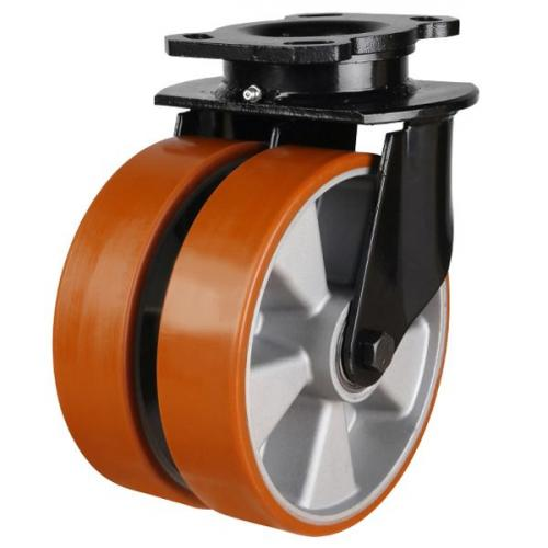 150mm Heavy Duty Polyurethane On Aluminium Centre Swivel Castors