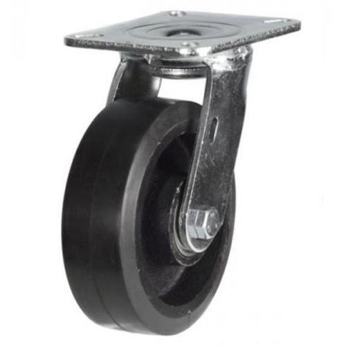 150mm Heavy Duty Rubber on Cast Iron Swivel castors - 400kg capacity