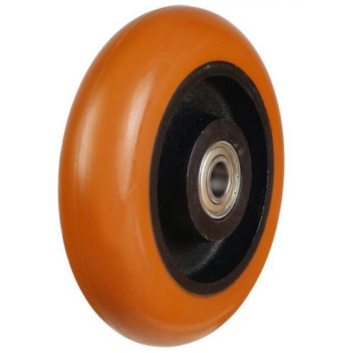 150mm Round Profile, Easy move, Poly/Cast  wheel with 650Kg Capacity