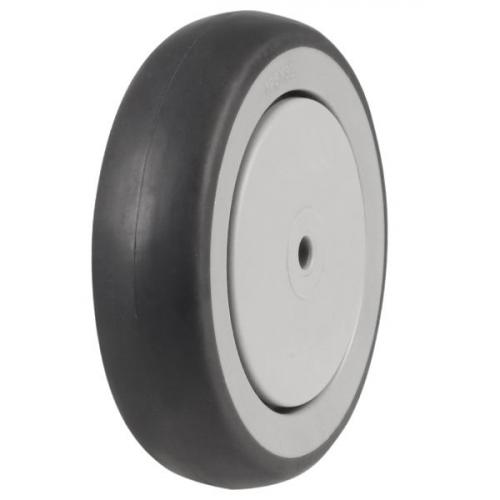 150mm Synthetic Non-Marking Rubber Tyre on Plastic Centre Castors Wheel