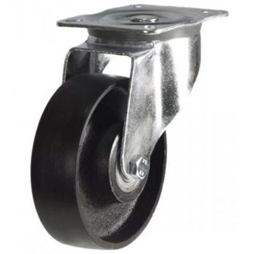 150mm medium duty swivel castor cast iron wheel