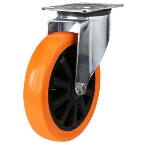 150mm medium duty swivel castor poly/nylon wheel