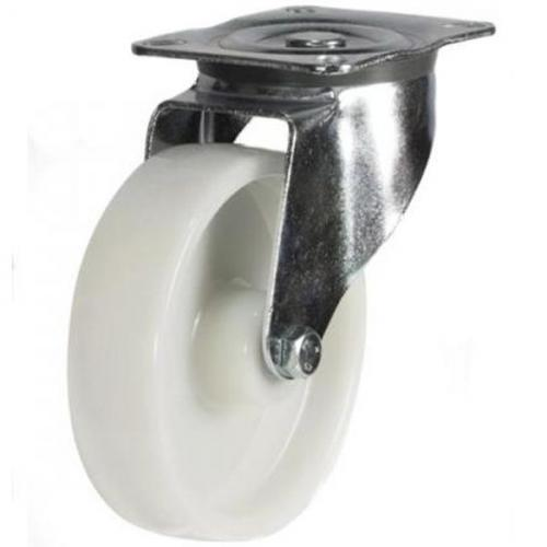 160mm medium duty swivel castor nylon wheel