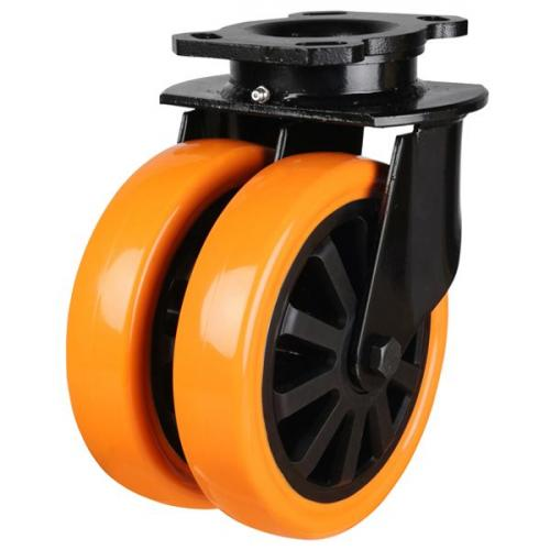 200mm Heavy Duty Polyurethane On Nylon Centre Heavy Duty Swivel Castors