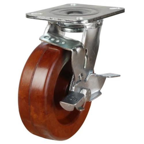 200mm High Temperature Resistant Wheel Braked Castors