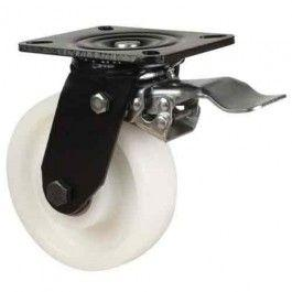 200mm Heavy Duty Nylon Braked Castors