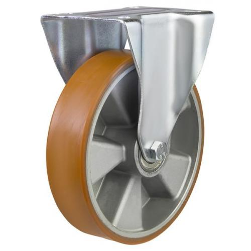 200mm Polyurethane On Aluminium Centre Fixed Castors
