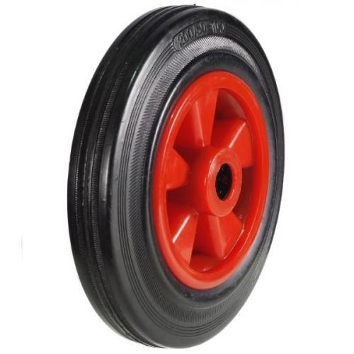 100mm Wheel with Rubber on a Nylon Centre 205Kg Capacity