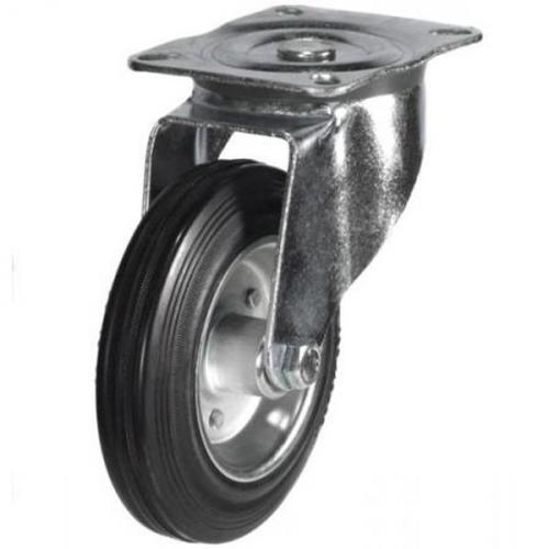 200mm medium duty swivel castor rubber wheel
