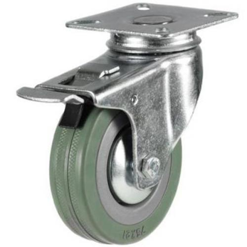 50mm Light Duty Braked Rubber Castors