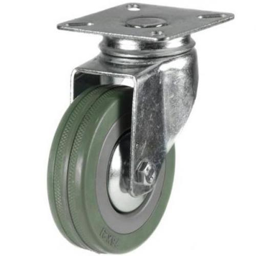 50mm Synthetic Grey Rubber Swivel Castor Up To 40kg Capacity