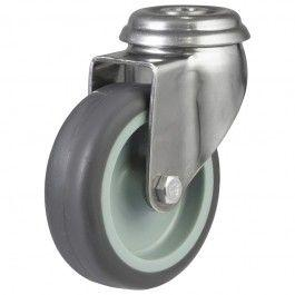 75mm Light Duty Synthetic Non-Marking Rubber Bolt Hole Castors