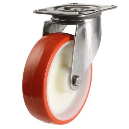 80mm medium duty swivel castor poly/nylon wheel