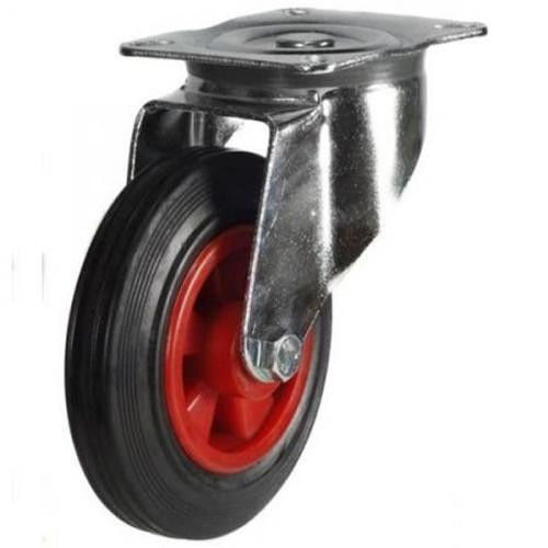 80mm medium duty swivel castor rubber wheel