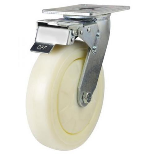Braked castors 150mm wheel diameter upto 360kg capacity