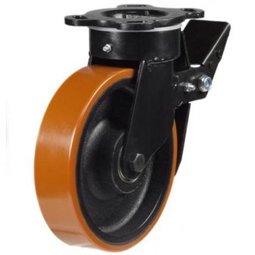 Heavy Duty Braked castors 200mm wheel diameter upto 1000kg capacity