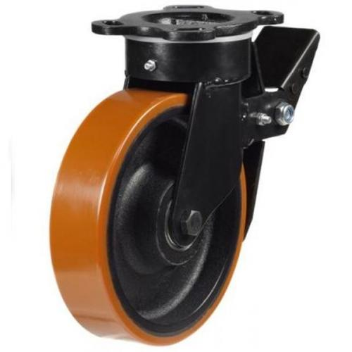 Heavy Duty Braked castors 250mm wheel diameter upto 1200kg capacity