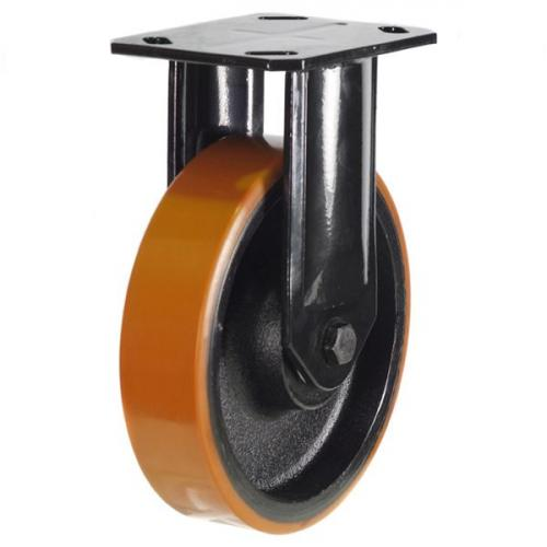 Heavy Duty Fixed castors 125mm wheel diameter upto 550kg capacity