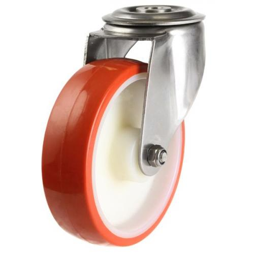 M12 Bolt Hole castors 80mm wheel diameter upto 150kg capacity