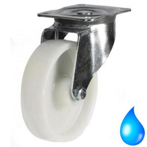 Stainless Steel, Swivel castors 125mm wheel diameter upto 270kg capacity