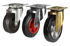 Heavy Duty Black Rubber Castors