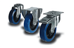 Heavy Duty Blue Rubber Castors