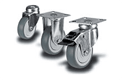 Heavy Duty Grey Rubber Castors
