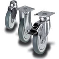 Castor wheels carry heavy loads
